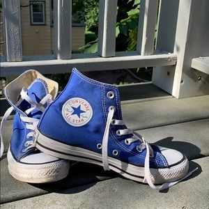 Blue High Top Converse All-Star Sneakers